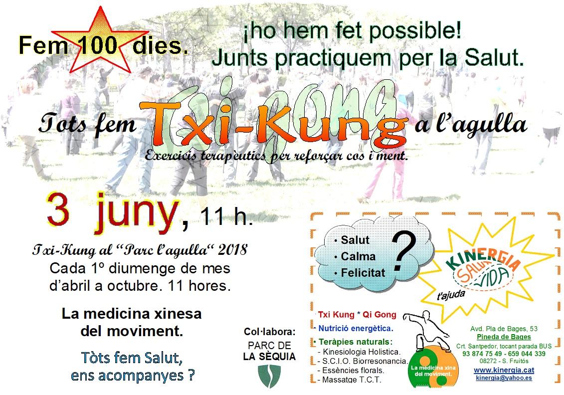 Tots fem Txi-kung a l'agulla juny 2018